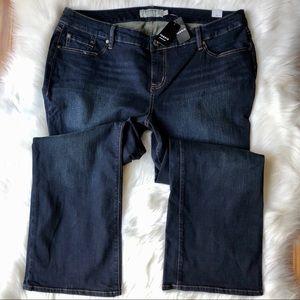 Torrid Curvy Bootcut Dark Denim Jeans